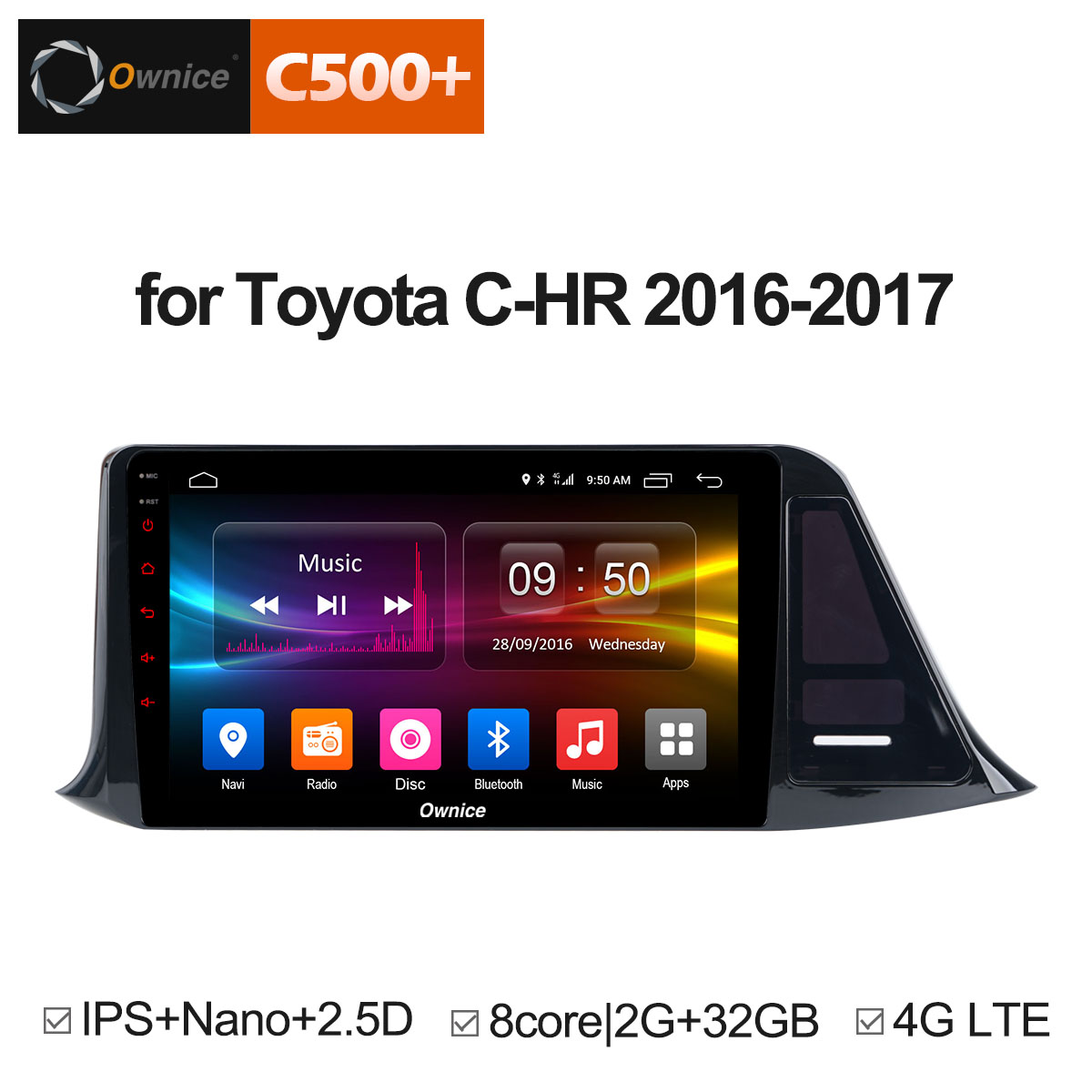 Ownice C500+ G10 Car dvd for Toyota C-HR C HR CHR 2016 2017 Car Android 8.1 Radio Audio GPS Player Navi Stereo Multimedia 4G LTE футболка классическая printio adventure time x doctor who