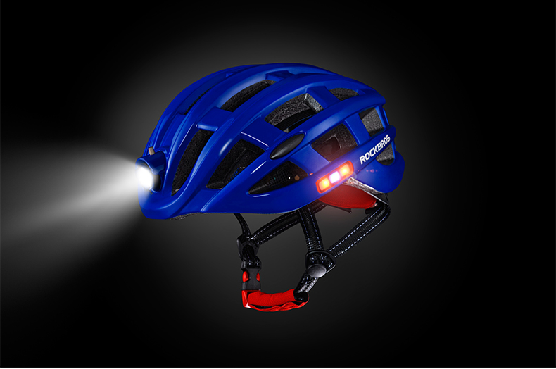 ROCKBROS Cycling Helmet with integrated front and side safety lights 19