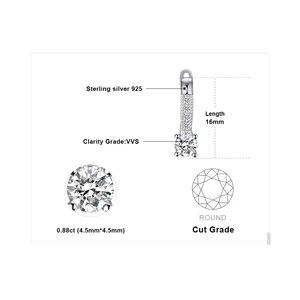 Image 5 - JewelryPalace kübik zirkonya klip küpe kadınlar için 925 ayar gümüş küpe kızlar için kore küpe moda takı 2020
