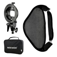 Neewer Photo Studio Multifunctional 60x60 centimeters Softbox with S type Speedlite Flash Bracket Mount and Carrying Case