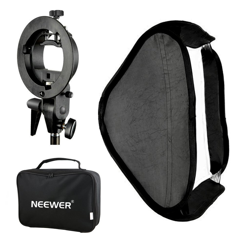 Neewer Photo Studio Softbox multifonction 60x60 centimètres avec support Flash Speedlite de type S et étui de transport