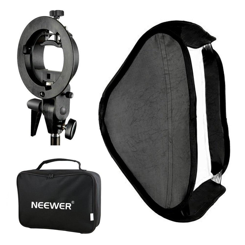 купить Neewer Photo Studio Multifunctional 60x60 centimeters Softbox with S-type Speedlite Flash Bracket Mount and Carrying Case по цене 2547.66 рублей