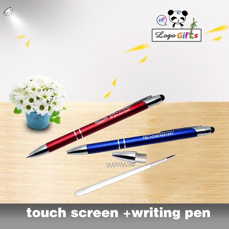 Ofis ve Okul Malzemeleri'ten Başlık Kalemleri'de YENI metal telefon stylus kalem telefon ve ped için Küçük iş promosyon ürünleri 70 adet çok baskılı ÜCRETSIZ ile şirket logosu/adı'da  Grup 1