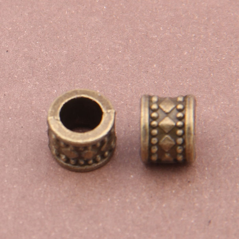 50Pcs//pack Spacer Beads for Jewellery Making Findings Charms Pendant 10mm