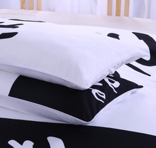 Black and White Bedding Set His Side & Her Side
