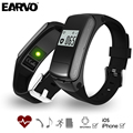 EARVO F50 Bluetooth Talkband Headset Sport Smart Bracelet Wristband Pedometer Fitness Tracker Heart Rate Monitor Supprot SD Card