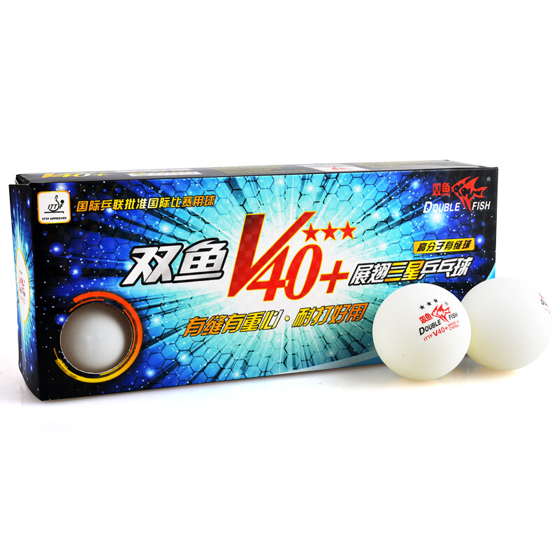 Double Fish 3-star V40+ table tennis balls original ABS 40+ new material seamed plastic ping pong balls