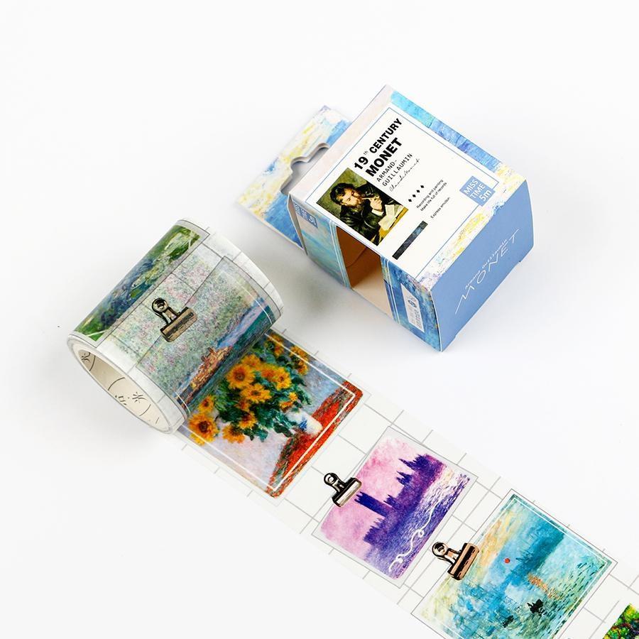 Impressionism Painting Washi Tape Diy Decoration Scrapbooking Planner Masking Tape Adhesive Tape Label Sticker Клейкая лента