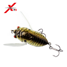 XTS Fishing Hard Lure  40mm 5.5g,55mm 12.1g Artificial Insect Topwater Floating Bait Cicada 4 Colors Jerkbait 5276