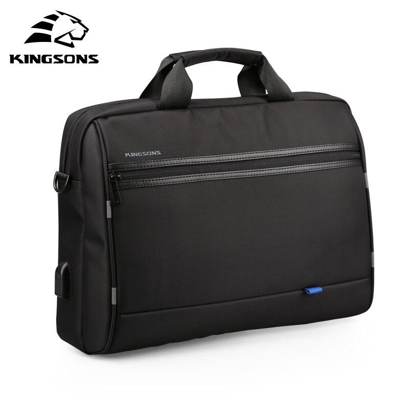 Kingsons sac à main hommes dans sacs à bandoulière pour hommes en Nylon décontracté sac à bandoulière Messenger 15.6 pouces noir - 2
