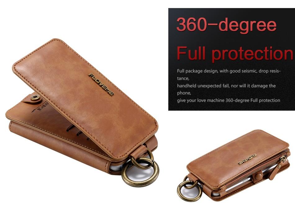 Floveme retro skóra telefon case do samsung galaxy note 3 4 5/s7/s6 edge plus metalowy pierścień coque karty portfel ochronne pokrywa 11