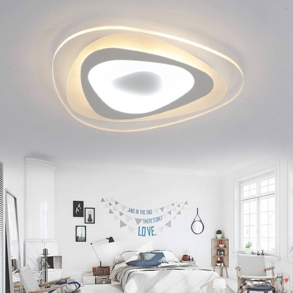 Lovely Modern Simple Round Rose Surface Mounted Smart Led Ceiling Light Lighting Lustre Ultra Thin Ceiling Lamp For Living Room Bedroom Ceiling Lights & Fans
