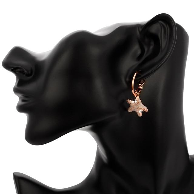 Women's Sea Horse and Starfish Enamel Earrings 5