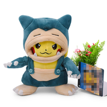 Anime Pikachu Cosplay Snorlax Tyranitar Peluche Plush Stuffed Toy Christmas Gift For Children 2019 New Style