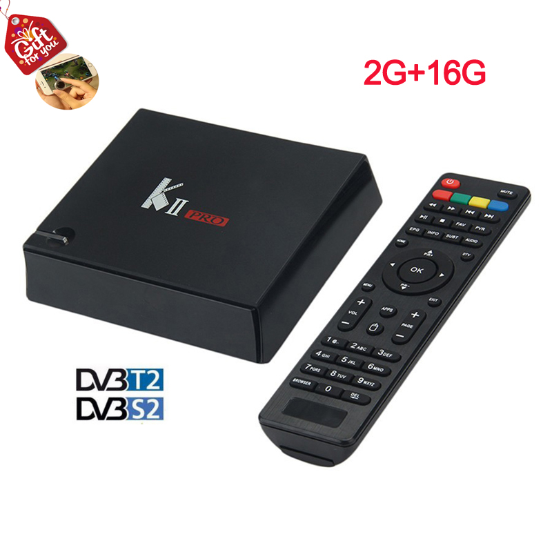 K2 PRO Dvb T2 S2 Android 5.1 4K Smart TV Box 2G/16G Amlogic S905 Quad-Core IPTV DVB-S2/T2 KII PRO Set Top Box Satellite Receiver k1 dvb s2 android 4 4 2 amlogic s805 quad core tv box