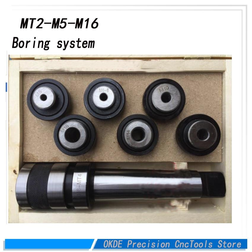Toque em fios de sobrecarga tocando chuck Conjunto M5-M16 com MT2 Tap Taper Haste chato set