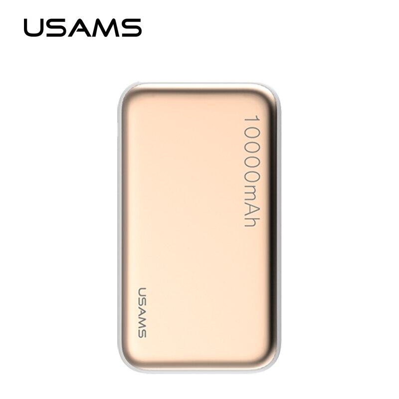 imágenes para USAMS 10000 mAh Banco de Potencia Dual USB Del Teléfono Móvil Cargador Portátil Powerbank Batería Externa para el iphone 7 Samsung s8 plus