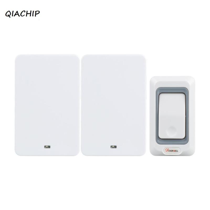 Wireless 433MHz Doorbell Kit Door Chime RF Signal Transmitters And 2 Receivers Operate w/28 Ringtone for Home Office EU Standard 2 receivers 60 buzzers wireless restaurant buzzer caller table call calling button waiter pager system