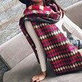 Корейский Женский Шарфы Модные Шарфы Новый Стиль Осень Зима Национальный Ветер Шарф Имитация Кашемира Толщиной Теплые Платки И Шарфы