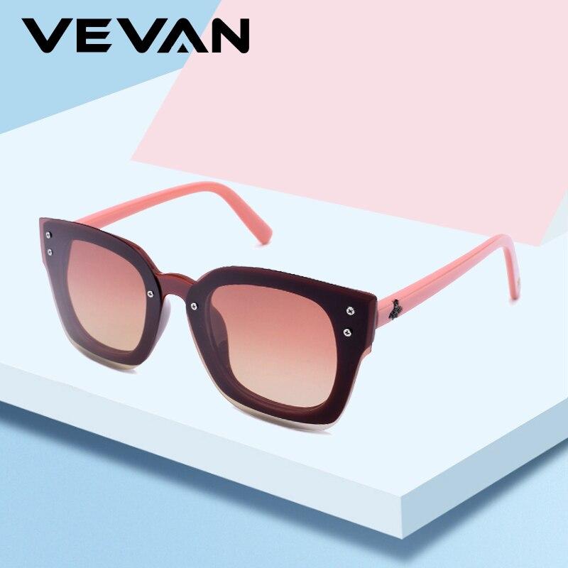 VEVAN 2019 Fashion Rimless Sunglasses Women Polarized