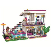 Diy Girls Friends Series Livi's Pop Star House Building Blocks Bricks Toy Compatible with Legoingly 41135 for Christmas Gifts