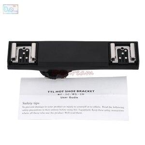 Image 3 - Dual Hot Shoe Sync TTL Off Camera Arm Bracket Splitter Trigger for Nikon D7500 D7200 D800 D600 SB910 SB900 SB 5000 SB700 SB 500