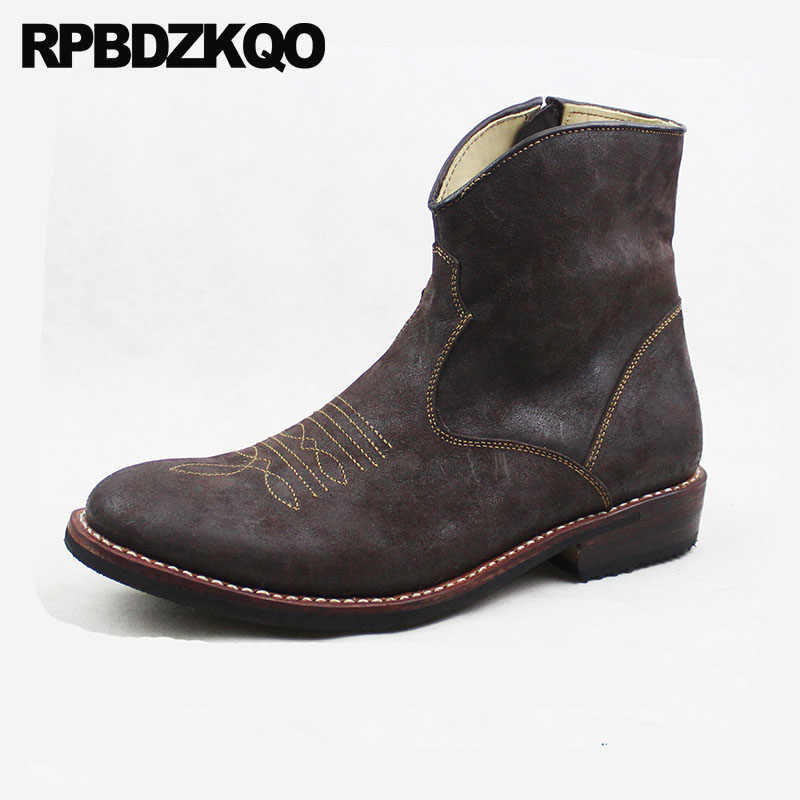 16fcbce55f4 Detail Feedback Questions about Chunky Western Cowboy Boots Mens ...