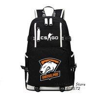 High Quality Virtus.pro Team Fnatic DOTA 2 CS CSGO Printing Backpack Men Travel Bags Canvas Oxford School Bags Laptop Backpack