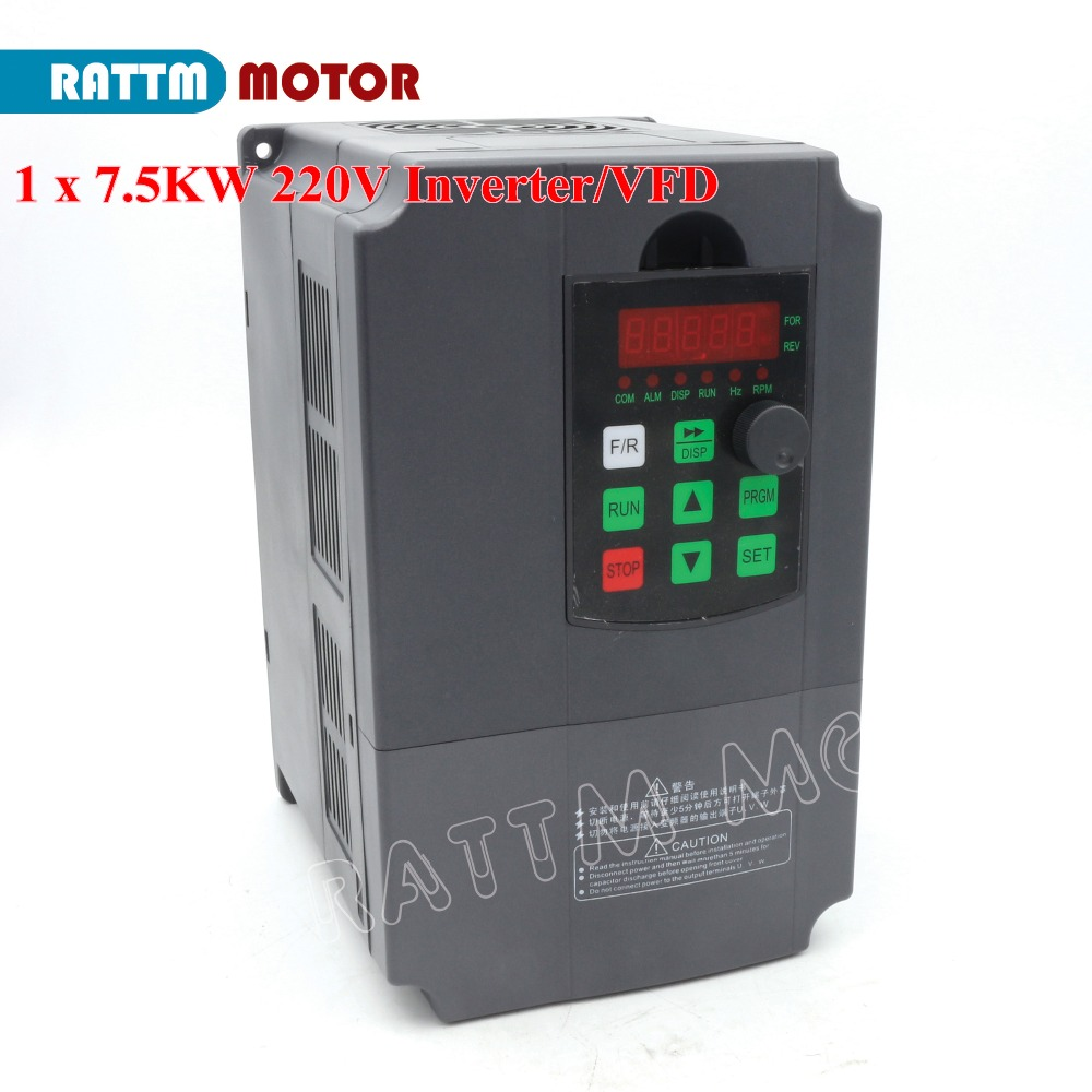 цена на EU Delivery! 7.5KW 220V Variable Frequency VFD Inverter Output 3 phase 400Hz Spindle Motor Speed Controller Frequency Conveter