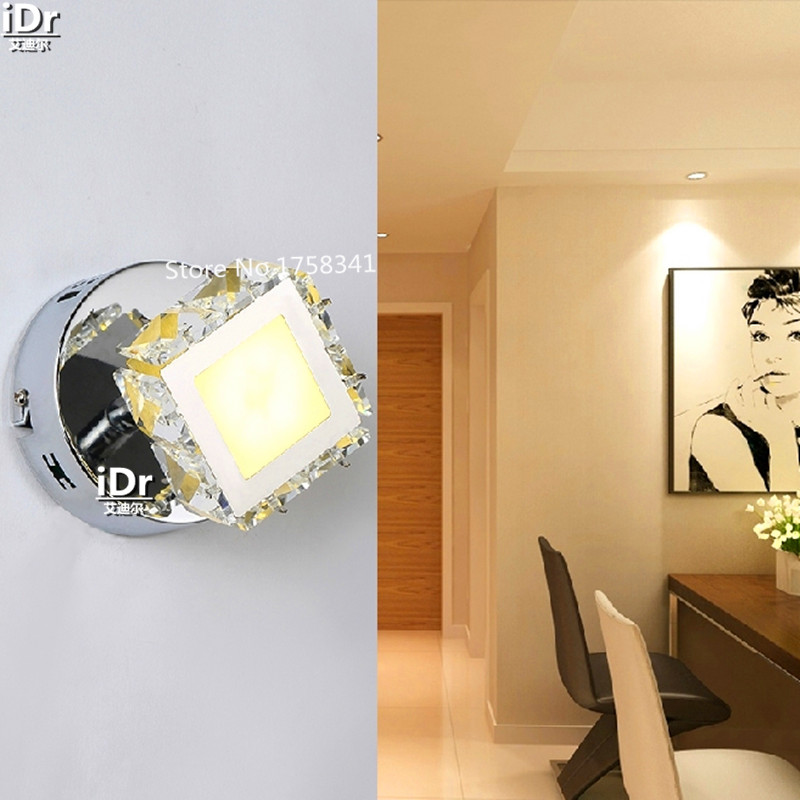 the new listing  LED Crystal Lamp Ceiling lights aisle lights minimalist modern small romantic star LED energy-saving lamps