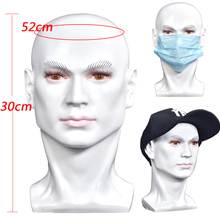White Male Mannequin Head With PVC Material For Wigs Hats Mask etc Display Dummy Manikin Wig Showing
