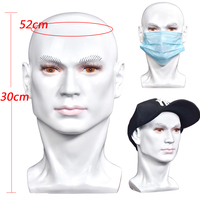 White Male Mannequin Head With PVC Material For Wigs Hats Mask etc Display Dummy Manikin Head For Wig Showing