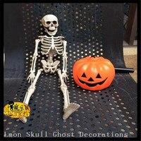 Hot!!! 40 cm Halloween haunted house bar scene layout props plastic luminous skull skeleton,Horror Those trick toys Ghost Skull