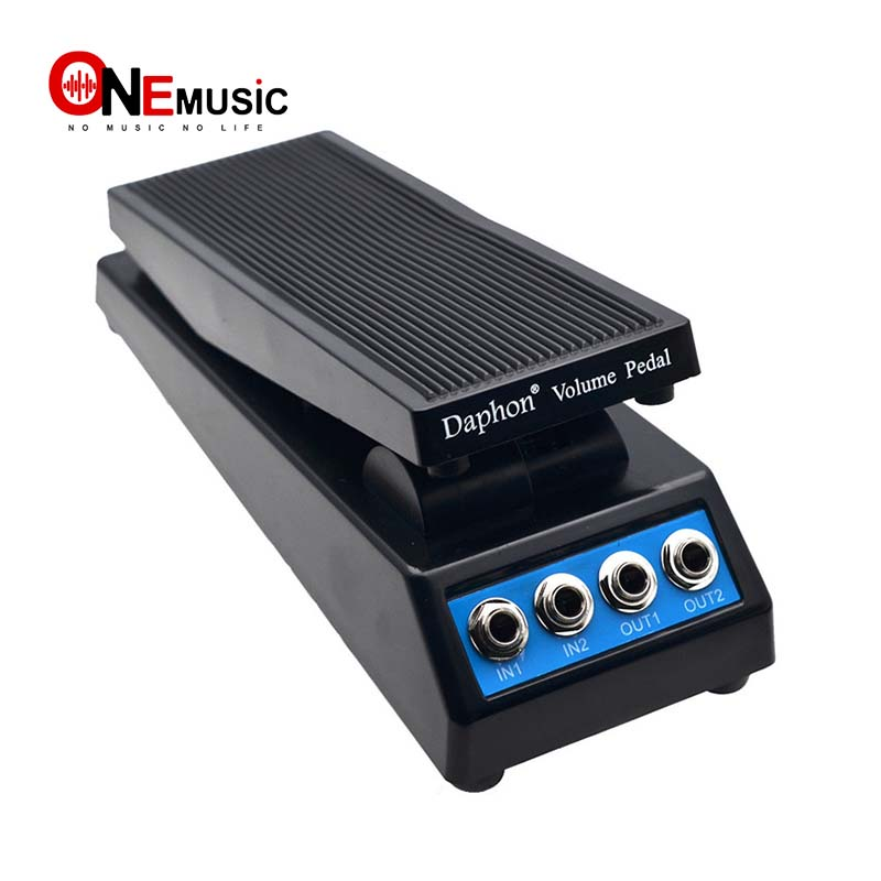 Guitar Volume Pedal Daphon DF1511A Guitar Stereo Volume Pedal DJ with Amplitude Adjustment Knob Precise Volume Control Dual Input and Output