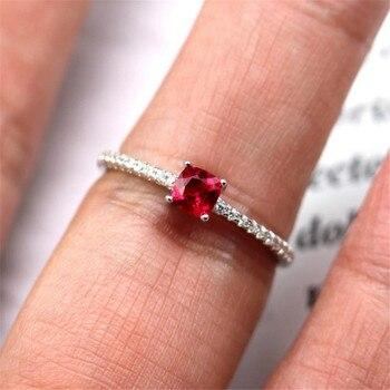 deaecfba98c9 2019 YKNRBPH S925 de moda de plata esterlina corindón rojo anillo de plata  pura diamante con incrustaciones de piedras preciosas anillos de boda