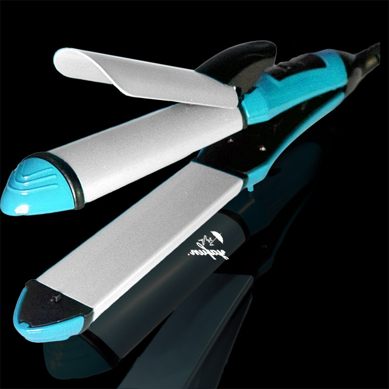 Yafun 110V-240V Styling Tools straightening Iron curling Iron (Straightener Curler 2 in 1) hair styles rollers beauty hair irons 3 in 1 professionals tourmaline ceramic hair straightener straightening corrugated iron hair curler styling tools km1213