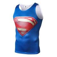 2018 Men And Women Bodybuilding Clothing Superman 3D Print Comic Hero Sleeveless Vest Tight Tank Top