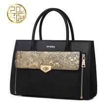 Известная марка высококачественных Разделенная Кожа женщин сумки Pmsix 2016 Новый Китай ветер тиснением Плеча сумки Сумка