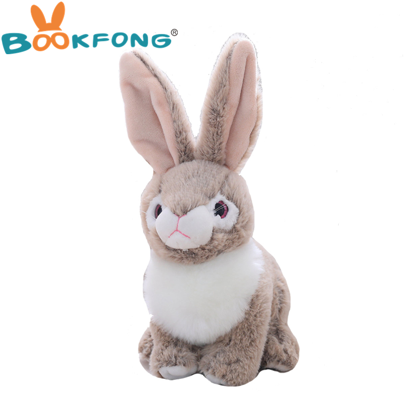 Simulation Rabbit Doll Cute Vivid Rabbit Plush Toy Stuffed Plush Animals Kids Toy Birthday Christmas Gift For Children Kids Girl mashimaro stuffed animal bunny rabbit toy pluche stuffe speelgoed birthday gift for kids cute plush rabbit toy for baby 70c0363