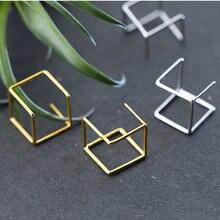Серебряные серьги 925 пробы квадратные brincos Ювелирные изделия