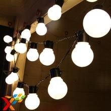 Luminaria 10 м LED string Шар света Занавес Большой Размер гирлянда лампы для фея свадьба новый год Открытый Рождественский Праздник освещение