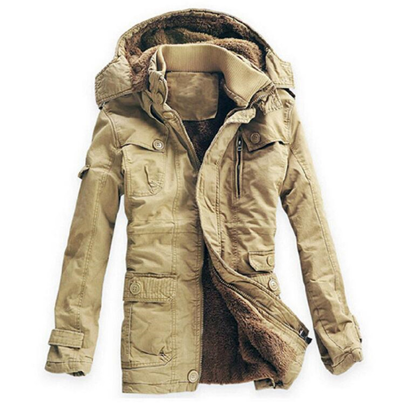 Winter Jacket Men Casual Cotton Thick Warm Coat Men's Outwear Wadded Long Hooded Overcoat Jackets Padded Parka Male Plus Size winter jacket men thick warm hooded winter coat cotton padded jackets fashion young mens slim fit outwear parka hombre