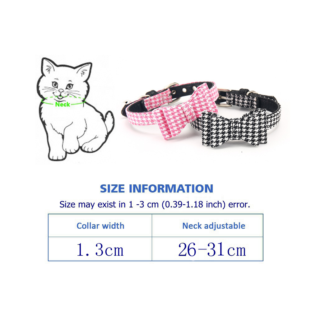 Cat Collar With Bell Dog Collar For Cats Solid Braid Kittens Pet Cat Collars Shiny Adjustable Collars For Cats Pet Lead Supplies (14)