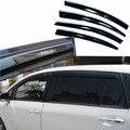 4 pcs Janelas de Ventilação Viseiras Chuva Guarda Sol Escudo Escuro Defletores Para Toyota EZ