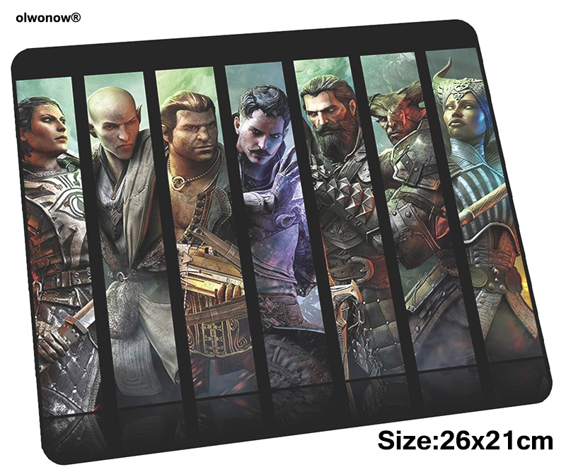 Dragon Age Mousepad 26x21cm Gaming Mouse Pad Big Gamer Mat New Arrival Game Computer Desk Padmouse Keyboard Anime Play Mats