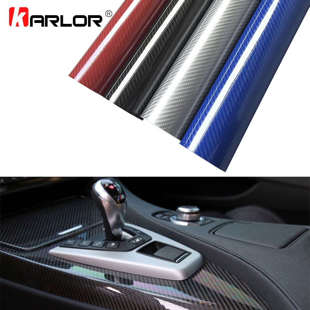 30x100cm 5D High Glossy Carbon Fiber Vinyl Wrap Film Auto Car Truck Interior DIY Decoration Sticker Car Styling Accessories-in Car Stickers from Automobiles & Motorcycles