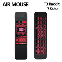 T3 C Air Mouse 2 4G Wireless Backlit 7 Color Mouse Keyboard Combo Smart Remote Control