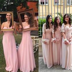 Свадебные платья невесты мода женщины фиолетовый цветы одно плечо шифон мягкий длинные 2016 де феста лонго 9768 Платья невесты