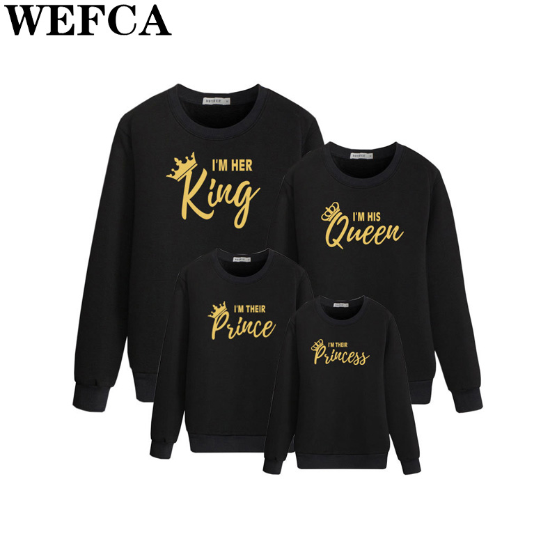 Father Mother Kids Outfits Dad Mom and Me Long Sleeve T-shir