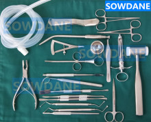 22 pcs/set High Quality Dental Planting set Dental Implant kit Stainless steel Instrument Dentist Surgical Tool with hole towel 2018 good quality 1 set dentist tools planting maxillary sinus lifting tool remove calculus medical examination equipment